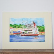 Red Funnel Print
