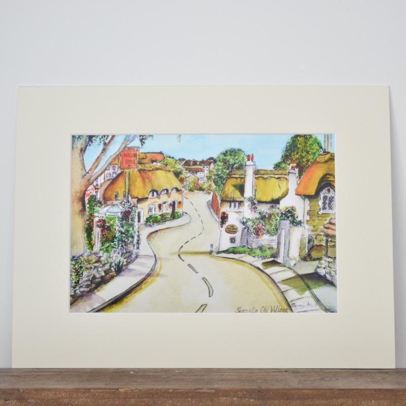 Shanklin Old Village Print