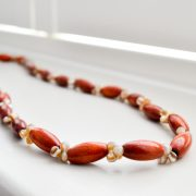 Wood and Bead Necklace