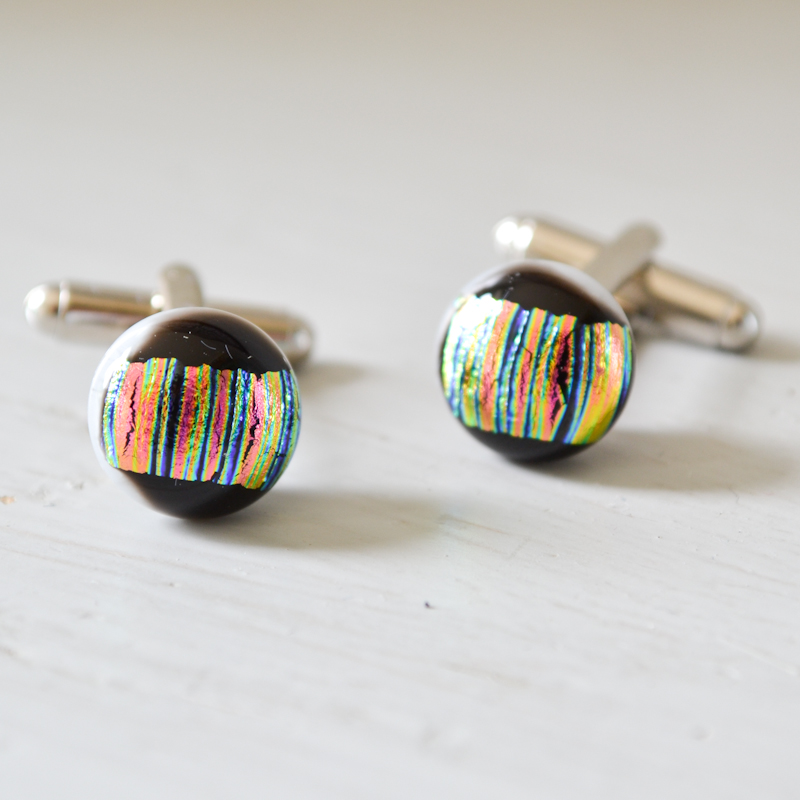 Black Stripey Cufflinks