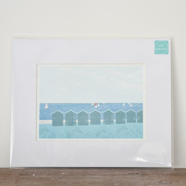 Huts at Gurnard Print
