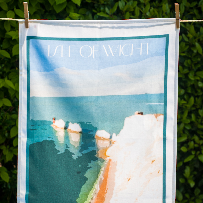 IOW Needles Tea Towel