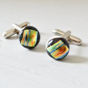 Multicoloured Stripe Cufflinks