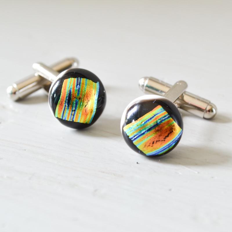 Multicoloured Stripe Cufflinks