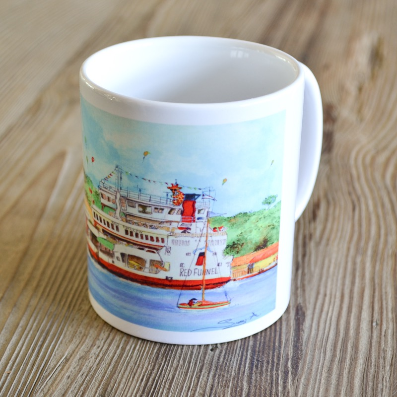 Red Funnel Mug