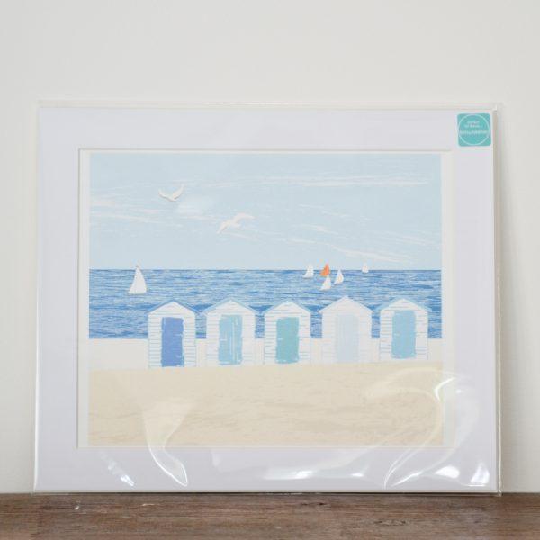 White Huts Print