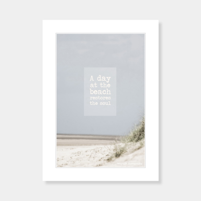 A Day At The Beach Mounted Print