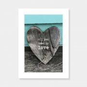 All You Need is Love Mounted Print