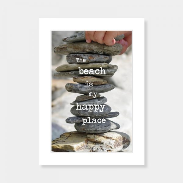 Happy Place Mounted Print