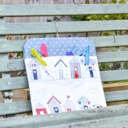 Blue Beach Hut Pegbag