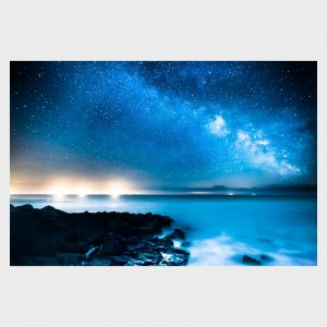Fishing Boats meet The Milky Way Print – Steephill Cove
