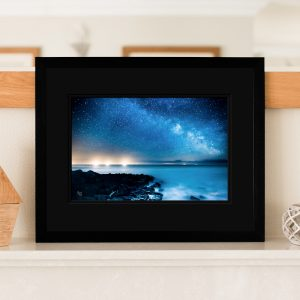 Fishing Boats meet The Milky Way Signed Print