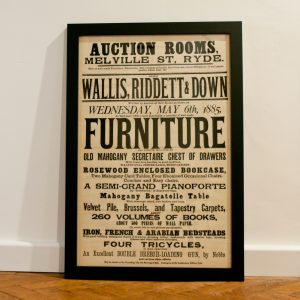 Vintage Ryde Auction Poster